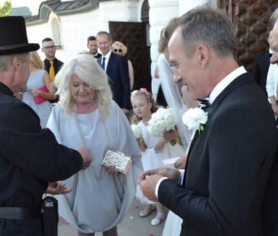 ślub - kominiarz - radość